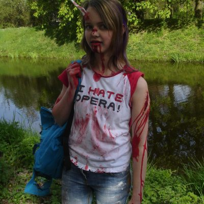 Zombie make-up; first time doing SFX make-up