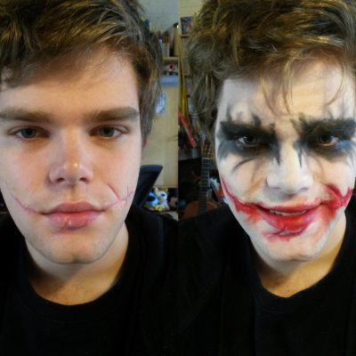 Joker; with and without make-up