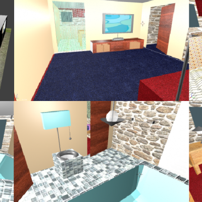 This is the house I made as the end assignment, I've made every piece of furniture myself.