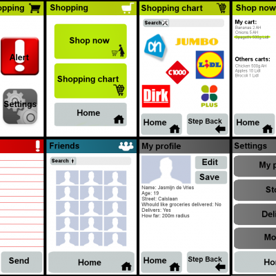 This is a user interface I designed for a grocery shopping app.