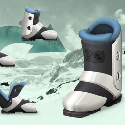 Final design: Ski boots