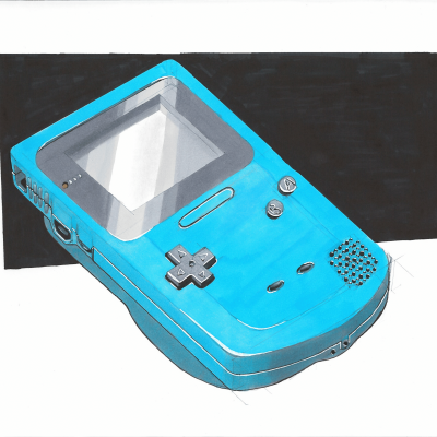 Shading a complicated product: a gameboy colour